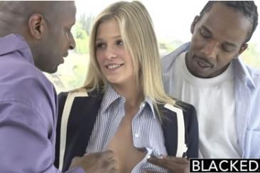 First time blacked girls - Scarlet in threesome