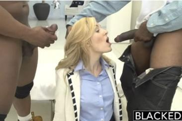 First time blacked girls - Emily Kae in 3some
