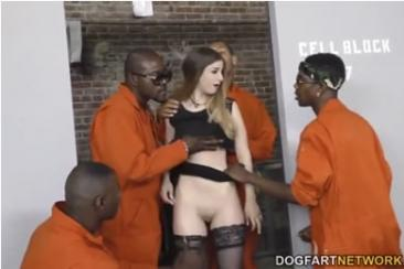Stella Cox - gangbang with prisoners