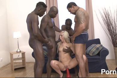 Interracial gangbang sex - Jenny Simons